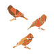 Inke handmade wallpaper Birds - Orange