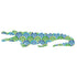 Inke handmade wallpaper Animals Safari - Crocodile 036 - Left - MAMAKA Shop