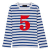 Bob & Blossom No French Blue & White Breton Long Sleeve Top - MAMAKA Shop