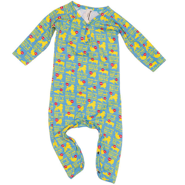Shampoodle Pet Romper - Blue/Yellow