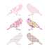 Inke handmade wallpaper Birds - Pink