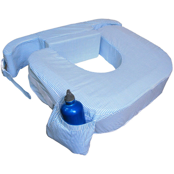 My Brest Friend nursing pillow for twins - Blue Stripes - MAMAKA Shop
