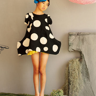 Franky Grow dress dots - black- white - MAMAKA Shop