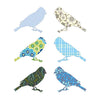 Inke handmade wallpaper birds - Blue - MAMAKA Shop