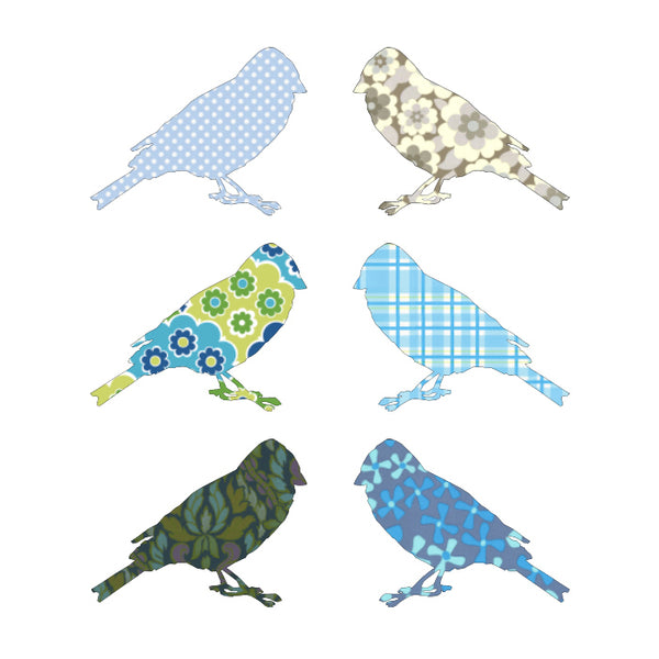Inke handmade wallpaper birds - Blue