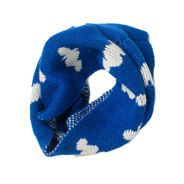 Bobo Choses Clouds Knitted Round Scarf - Blue - MAMAKA Shop