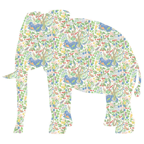 Inke handmade wallpaper Animals Safari - Elephant 115 - Left - MAMAKA Shop