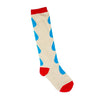 Franky Grow Drop Socks - Blue Cream Red - MAMAKA Shop