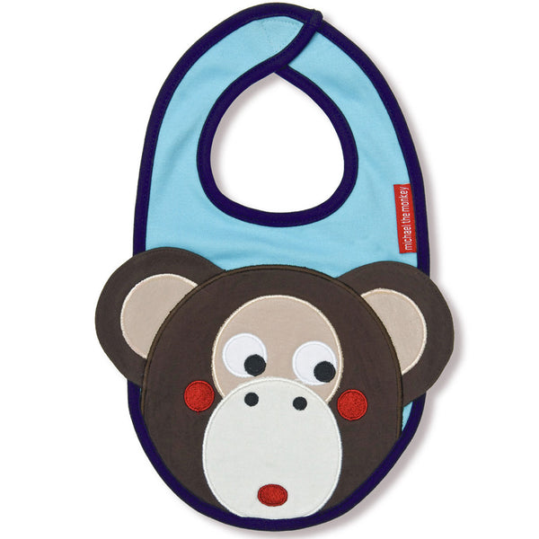 Olive & Moss Michael the Monkey Bib