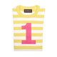 Bob & Blossom yellow striped number t-shirt