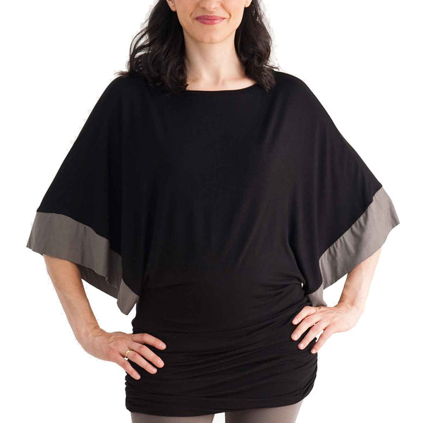 Mamaka Uma nursing top - Black Stone