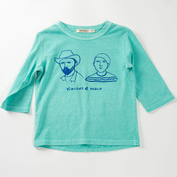 Bobo Choses Vincent et Pablo 3/4 T-Shirt - Blue - MAMAKA Shop