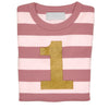 Bob & Blossom Gold No French Pink & White Breton Long Sleeve Top - MAMAKA Shop