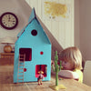 Kidsonroof cardboard Mobile Home - Blue - MAMAKA Shop