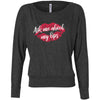 Ask me about my lips lipstick kiss print - Off the Shoulder Long sleeve Flowy Feminine Wide Neck Tee - Bella Brand Shirt - 6 Colors Available Plus Size XS-2XL - MADE IN THE USA