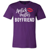 Lipstick Hustler Boyfriend - Bella & Canvas - O-neck Unisex Short Sleeve Jersey Tee - 12 Colors Available Plus Size XS-4XL - MADE IN THE USA