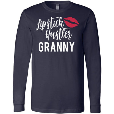Lipstick Hustler Granny - Long Sleeve Tee Unisex Canvas Brand T-shirt - 6 colors available PLUS Size XS-2XL MADE IN THE USA