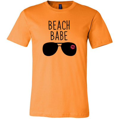 Beach Babe Sunglasses Red Lipstick Kiss - Bella & Canvas - o-neck Unisex Short Sleeve Jersey Tee - 12 Colors Available Plus Size XS-4XL - MADE IN THE USA