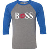 BOSS Lips - Unisex Three-Quarter Sleeve Baseball T-Shirt - Bella & Canvas - 8 Colors Available Plus Size XS-2XL - MADE IN THE USA