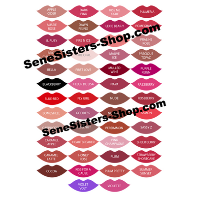 Lipsense Lip Color Chart Swatches Lipstick Lips Kisses Laptop Decal Stickers