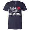 Lipstick Hustler Grandma - Bella & Canvas Unisex V-neck Jersey T-Shirt - 11 Colors Available Plus Size XS-3XL - MADE IN THE USA