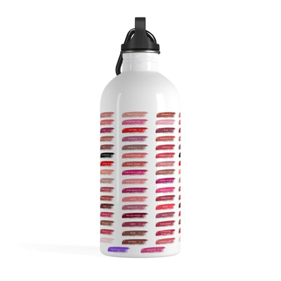 Lipsense 50 Lip Color Swatches Stainless Steel Water Bottle 14oz