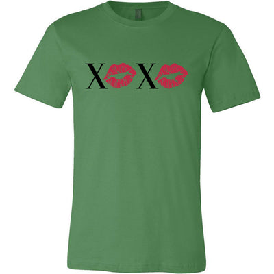 XOXO Lips Lipstick Kiss Print - Bella & Canvas - O-neck Unisex Short Sleeve Jersey Tee - 12 Colors Available Plus Size XS-4XL - MADE IN THE USA
