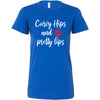 Curvy Hips and Pretty lips - Bella + Canvas - Women's Short Sleeve Feminine T-shirt - 16 Colors Available Plus Size S-2XL - MADE IN THE USA