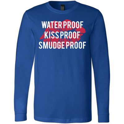 Waterproof-Kissproof-Smudgeproof - Long Sleeve Tee Unisex Canvas Brand T-shirt - 5 colors available PLUS Size XS-2XL MADE IN THE USA