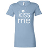 Kiss Me (white) Bella + Canvas - Women's Short Sleeve Feminine T-shirt - 15 Colors Available Plus Size S-2XL - MADE IN THE USA