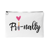 FRI-NALLY - Travel Lipsense Makeup Accessory Cosmetic Tote or Money Bag Size: Small or Large