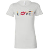 Love Lipsense - Bella + Canvas - Women's Short Sleeve Feminine T-shirt - 16 Colors Available Plus Size S-2XL - MADE IN THE USA