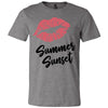 Lipstick Kiss Lips Print - Lipsense: SUMMER SUNSET - Bella & Canvas - O-neck Unisex Short Sleeve Jersey Tee - 8 Colors Available Plus Size XS-4XL - MADE IN THE USA