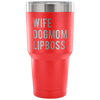 WIFE-DOGMOM-LIPBOSS - 30 oz Engraved / Etched Stainless Steel Tumbler Travel Mug | Hot or Cold | 7 Colors Available