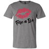 Lipstick Kiss Lips Print - Lipsense: FIRE N ICE - Bella & Canvas - O-neck Unisex Short Sleeve Jersey Tee - 8 Colors Available Plus Size XS-4XL - MADE IN THE USA