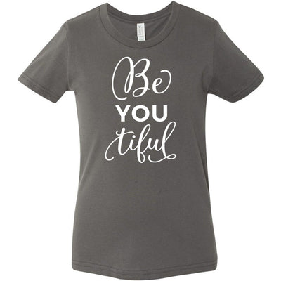 BeYOUtiful - Bella & Canvas - Kids Short Sleeve Crewneck Jersey Tee Youth T-shirt - 7 colors available Size S/M/L MADE IN THE USA