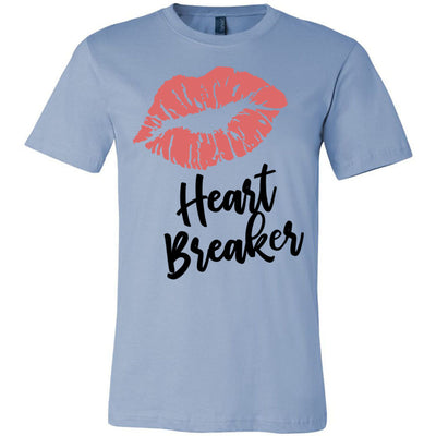 Lipstick Kiss Lips Print - Lipsense: HEARTBREAKER  - Bella & Canvas - O-neck Unisex Short Sleeve Jersey Tee - 8 Colors Available Plus Size XS-4XL - MADE IN THE USA