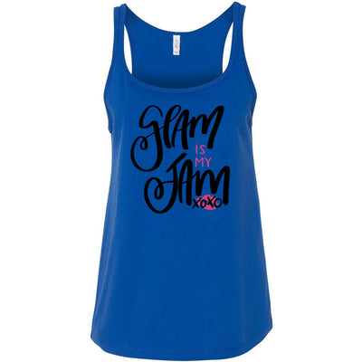 Glam is my Jam xoxo - Ladies Relaxed Jersey Tank Top Women - Bella & Canvas - 6 colors available - PLUS Size S-2XL MADE IN THE USA