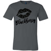 Lipstick Kiss Lips Print - Lipsense: BLACKBERRY - Bella & Canvas - O-neck Unisex Short Sleeve Jersey Tee - 12 Colors Available Plus Size XS-4XL - MADE IN THE USA