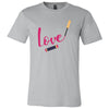 LOVE Lipsense Lipstick Swipe - Bella & Canvas - O-neck Unisex Short Sleeve Jersey Tee - 12 Colors Available Plus Size XS-4XL - MADE IN THE USA