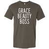 Grace Beauty Boss - Bella & Canvas - O-neck Unisex Short Sleeve Jersey Tee -12 Colors Available Plus Size XS-4XL - MADE IN THE USA