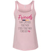 Friends that Lipstick together stick together forever - Ladies Relaxed Jersey Tank Top Women - Bella & Canvas - 6 colors available - PLUS Size S-2XL MADE IN THE USA