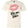 Lipstick Kiss Lips Print - Lipsense: KISS ME KATIE  - Bella & Canvas - O-neck Unisex Short Sleeve Jersey Tee - 8 Colors Available Plus Size XS-4XL - MADE IN THE USA