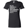 Lipsense Color Name List - Bella + Canvas - Women's Short Sleeve Feminine T-shirt - 17 Colors Available Plus Size S-2XL - MADE IN THE USA