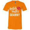 Lipstick Hustler Granny - Bella & Canvas Unisex V-neck Jersey T-Shirt - 12 Colors Available Plus Size XS-3XL - MADE IN THE USA