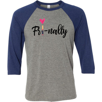 FRI-NALLY Lipsense - Unisex Three-Quarter Sleeve Baseball T-Shirt - Bella & Canvas - 16 Colors Available Plus Size XS-2XL - MADE IN THE USA