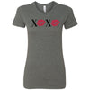 XOXO Lips Lipstick Kiss Print Bella + Canvas - Women's Short Sleeve Feminine T-shirt - 12 Colors Available Plus Size S-2XL - MADE IN THE USA