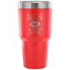 A Little Lipstick Always Helps 30 oz Engraved / Etched Stainless Steel Tumbler Travel Mug | Hot or Cold