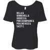 Lipsense Lip Color List - Bella Brand Ladies Slouchy Tee Feminine Women T-shirt - 7 colors available PLUS Size S-2XL MADE IN THE USA