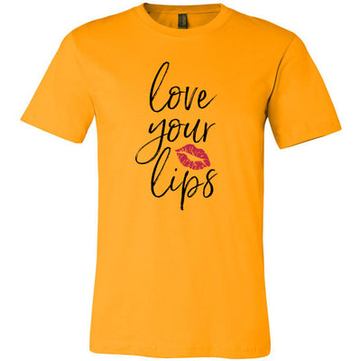 Love your Lips Lipstick kiss print - Bella & Canvas - O-neck Unisex Short Sleeve Jersey Tee -12 Colors Available Plus Size XS-4XL - MADE IN THE USA